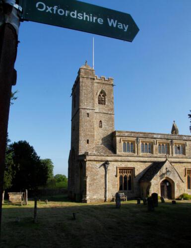 Church of St Leonard Bledington - Morning