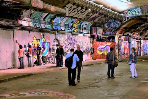 Art Class in Progress Leake Street Tunnel