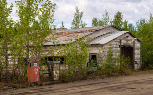 Gas Station Keno City Pop 20 Yukon Canada