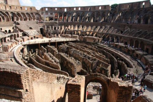 Inside the Coliseum in Rome