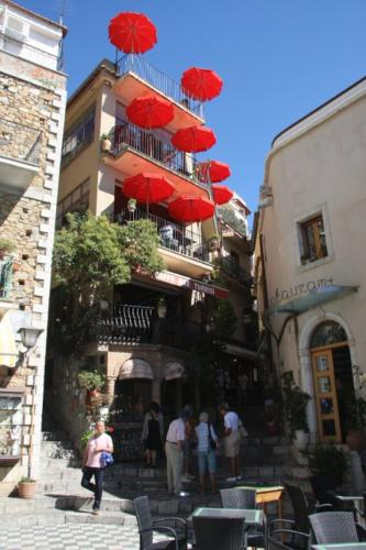 Umbrellas in Taormina, Sicily
