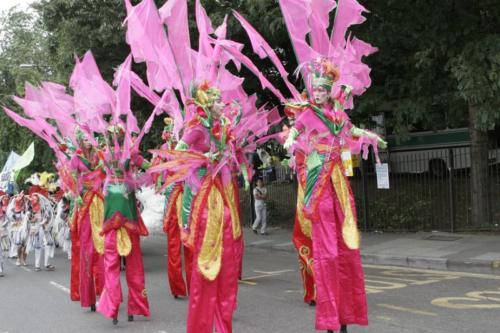 Notting Hill Carnival stilt walkers