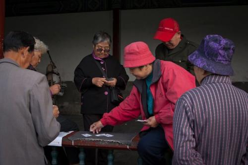 Card players, Temple of Heaven, Beijing