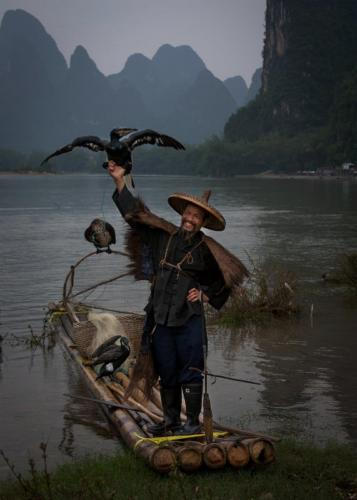 Cormorant fisherman, China